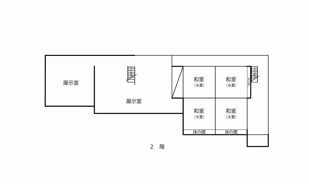 2階の間取り平面図