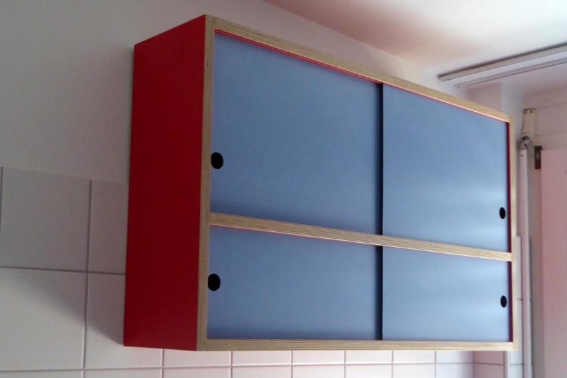 Badezimmerschränkli Birkensperrholz beschichtet, Türen Vollkernplatte