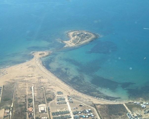 vista aerea dell'isola delle Correnti