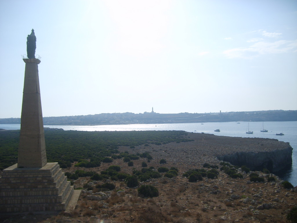 la statua della Madonna del Mare protettrice dei pescatori