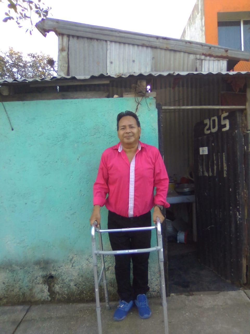 Don Andrés Robles se muestra agradecido por el apoyo que recibió de laFundación de Marco.