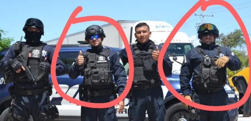 Encargados del grupo K9 de la Policía Municipal.