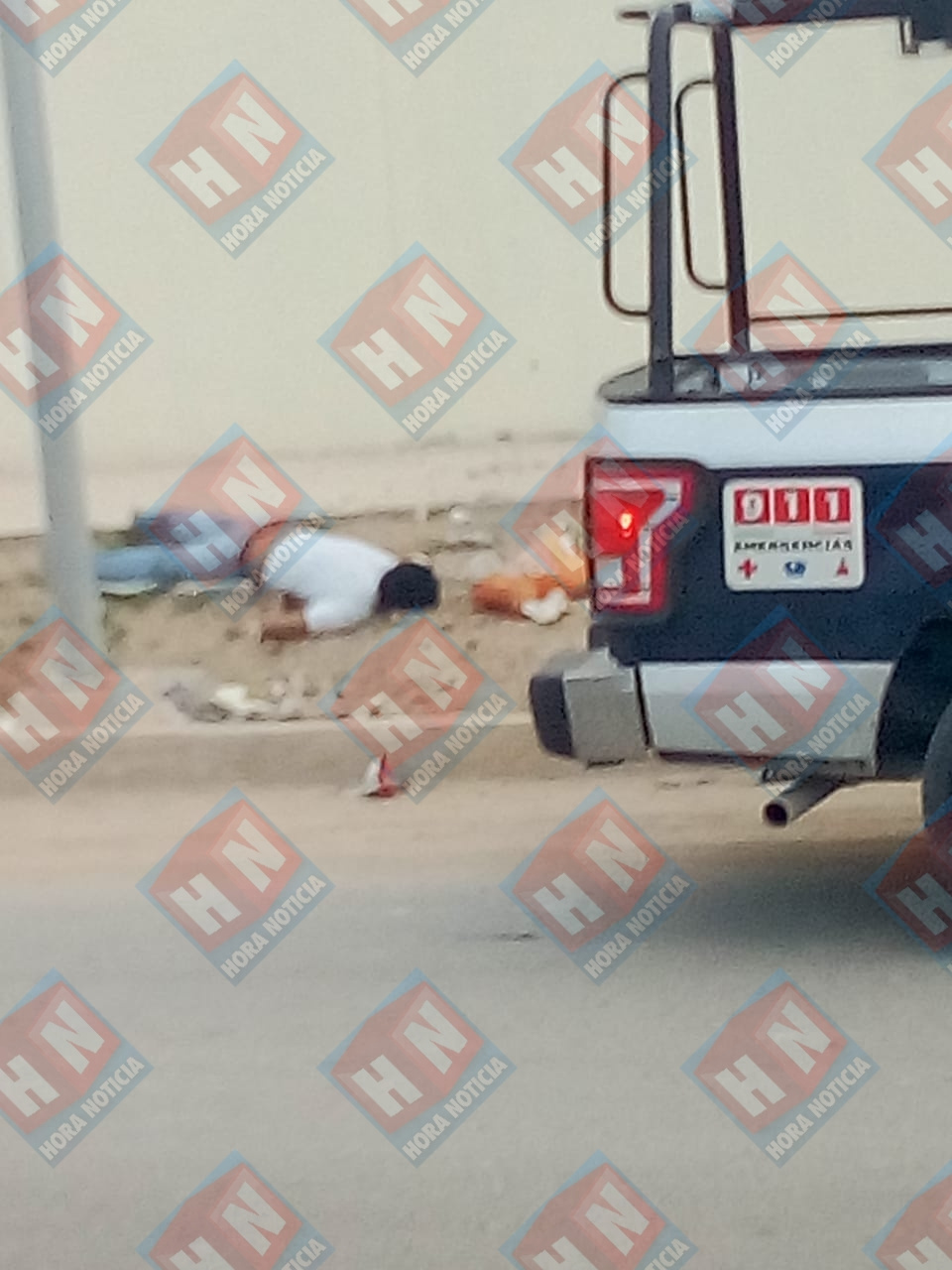 El cuerpo sin vida del ejecutado portaba varios impactos de arma de fuego.