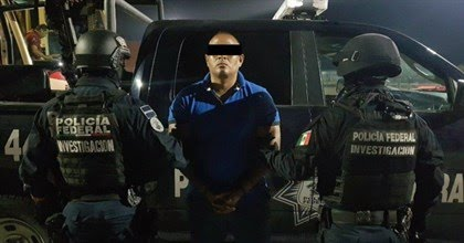 Presentan ante los medios de comunicación al líder del cártel del Golfo en Tamaulipas