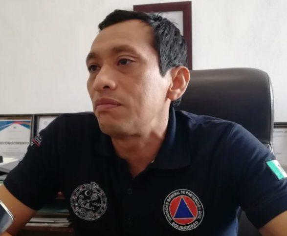 Titular de Protección Civil Juan Carlos Medina Sosa