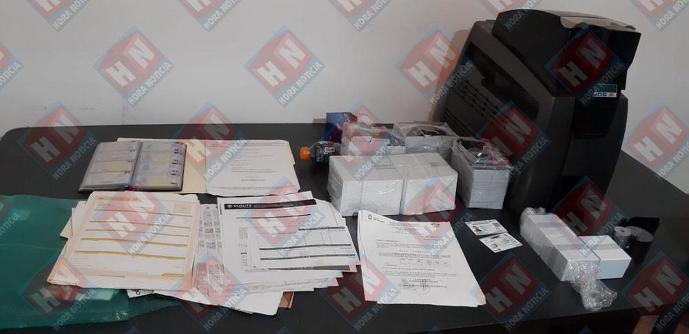 Documentos asegurados en Playa del Carmen