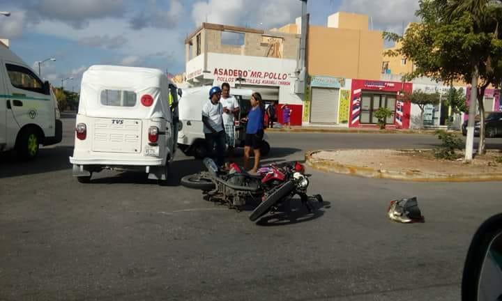 Primer accidente provocado por Moto-Taxi, una persona lesionada