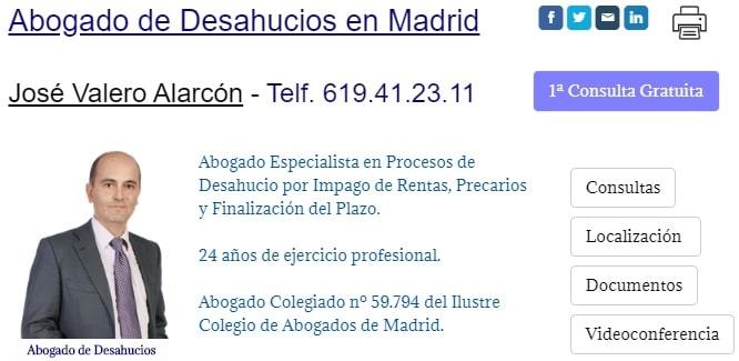 Abogada de Desahucios en Madrid impago de rentas precarios expiraciones del plazo