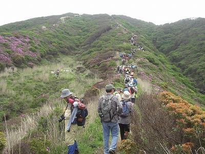 行列は山頂まで続く