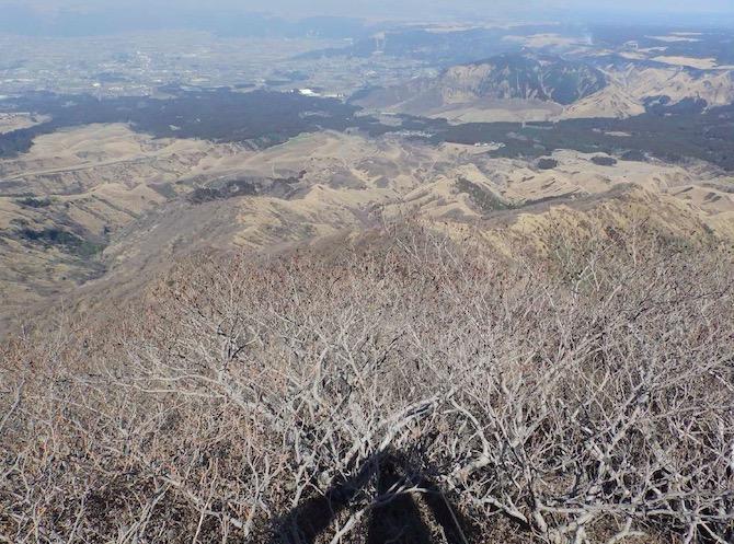 竜ヶ峰Ⅱ峰より北側の状況