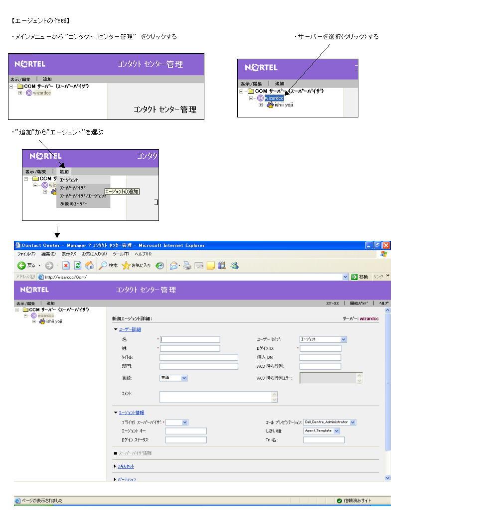 Web Client 操作の一例 CCM 6.0 説明図2