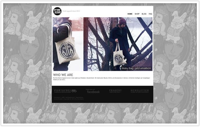 Сайт дизайнера на Jimdo