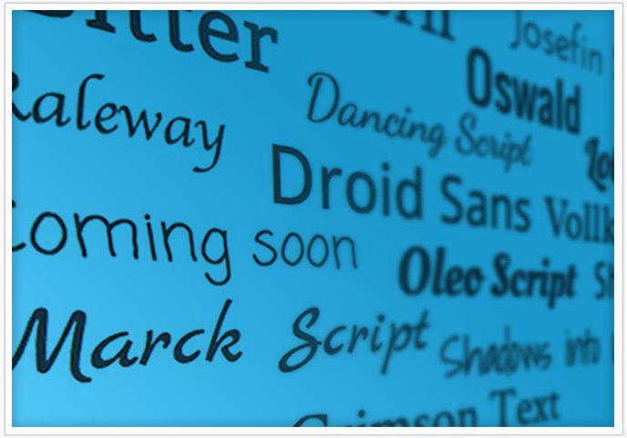 Новые виды шрифтов в Jimdo