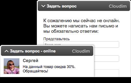 Онлайн-консультант для сайта Cloudim