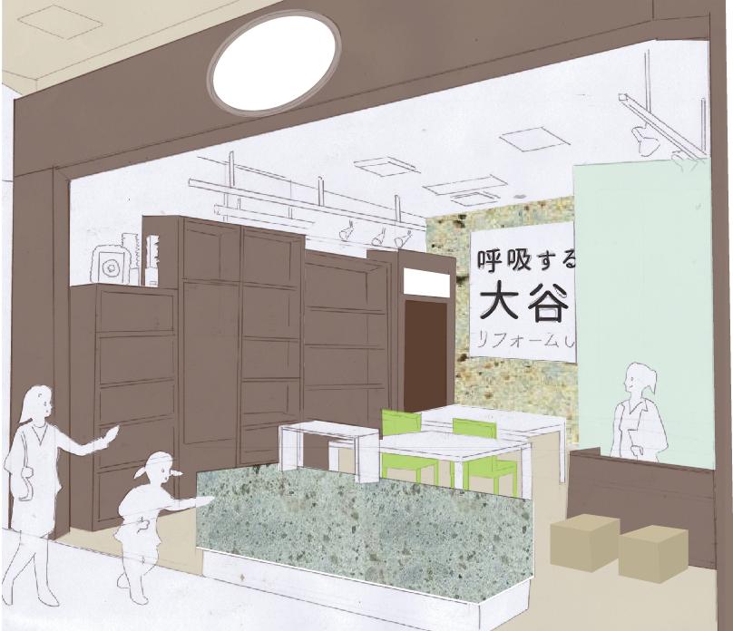 商業施設改装提案企画店舗イメージ図