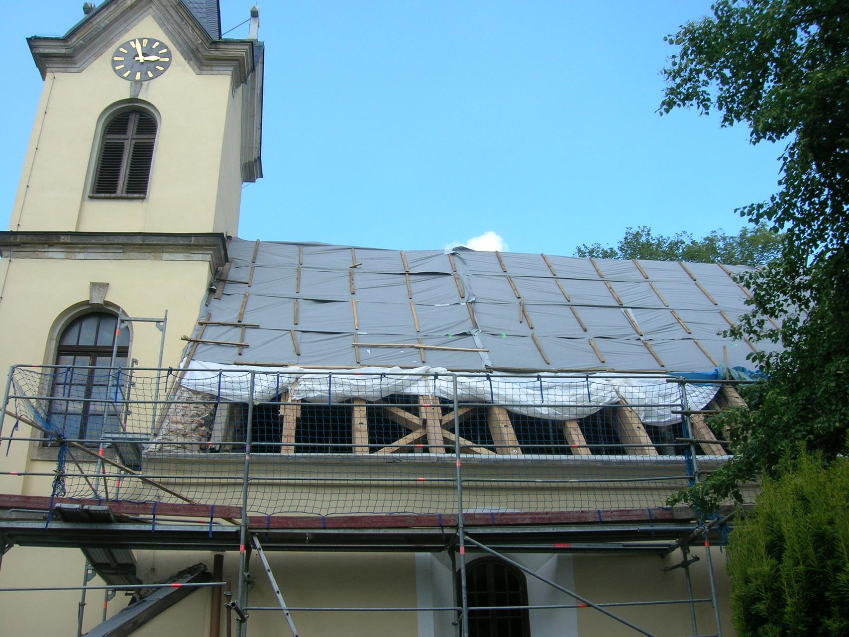 Sanierung Kirche Schwepnitz, 2009