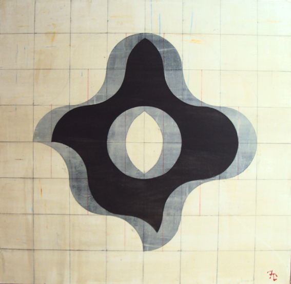 """FRANCISCO CASTRO LEÑERO, """"Juego de sombras"""", acrílico/tela, 80x80cm, 2015."""