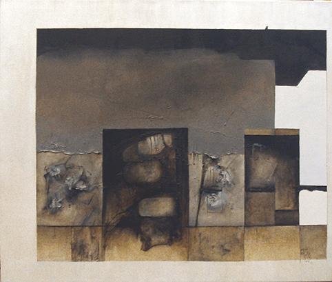"MANUEL FELGUÉREZ, ""Calle 9  (N.Y.2002)"", óleo/tela, 97x120cm, 2002."