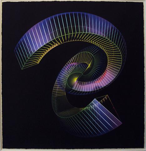 "SEBASTIAN, ""Nudo simplicial"", impresión digital/papel acuarelado ed. 15, 80 x 80 cm., 2010."