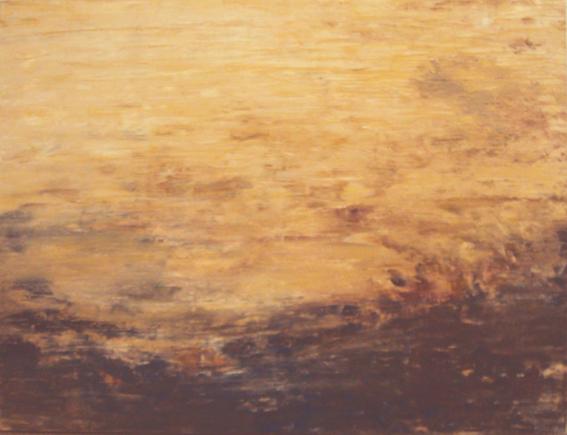 "IRMA PALACIOS, ""Espejismo obscuro"", óleo/tela, 100x120cm, 2014."