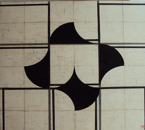 """FRANCISCO  CASTRO LEÑERO, """"Señales de viento"""", acrílico/tela, 80x80cm, 2014""""S"""