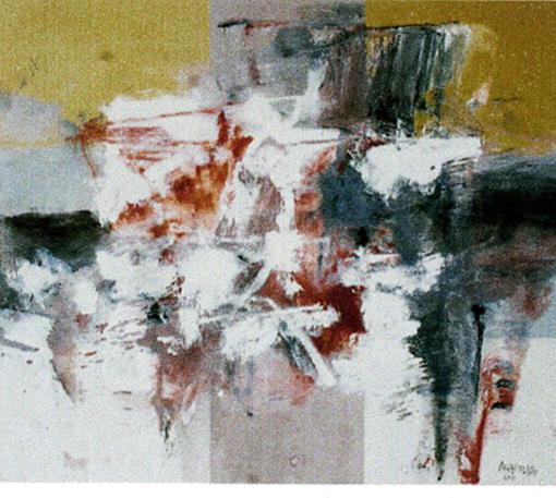 "MIGUEL ÁNGEL ALAMILLA, ""Mapa estructural"", óleo/tela, 90x107cm, 2011."