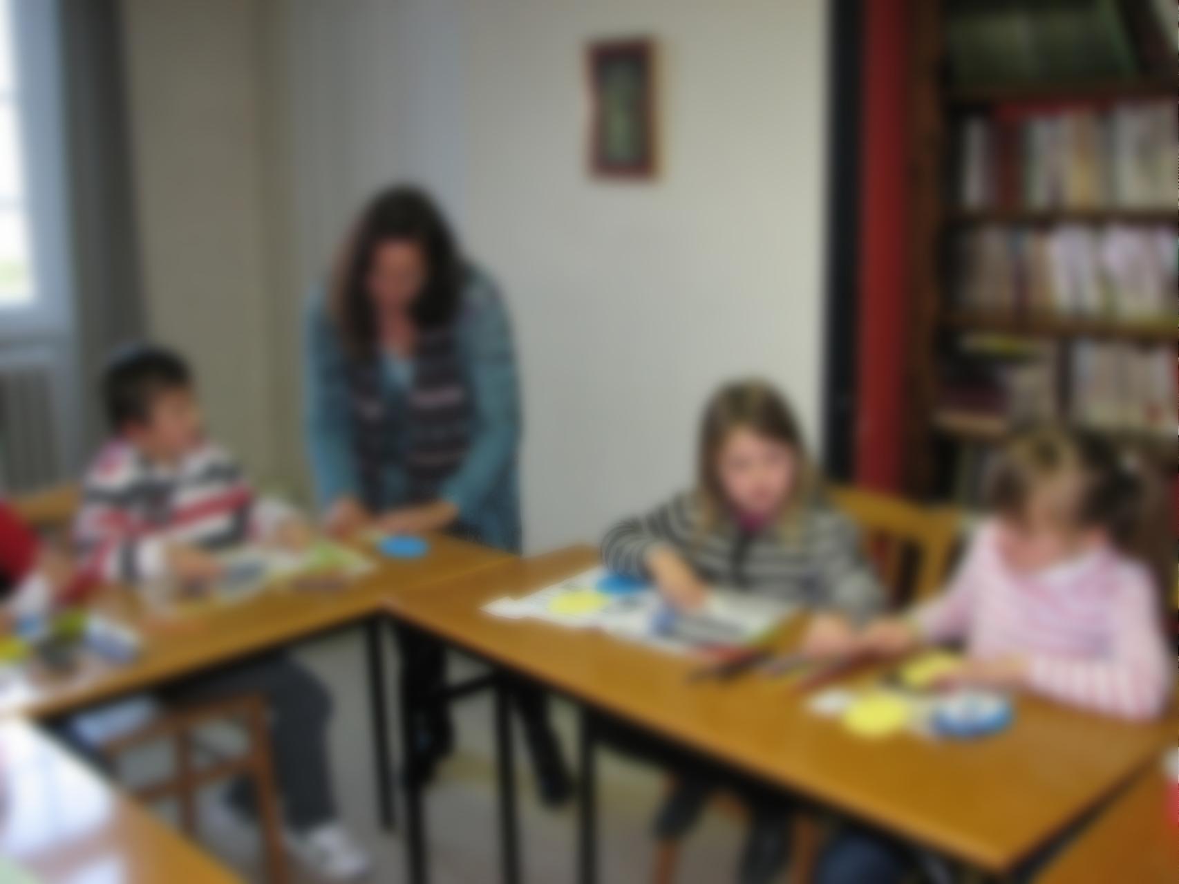 Groupe de catéchèse à Créhen