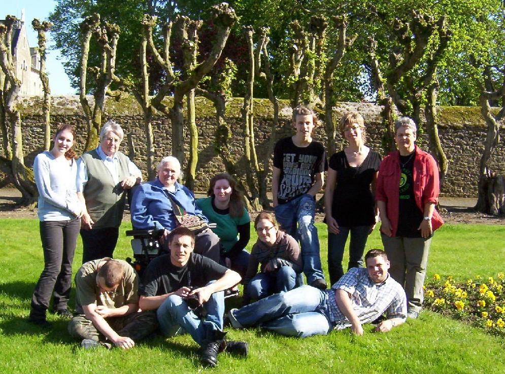 Groupe de jeunes néerlandais de passage à la Providence