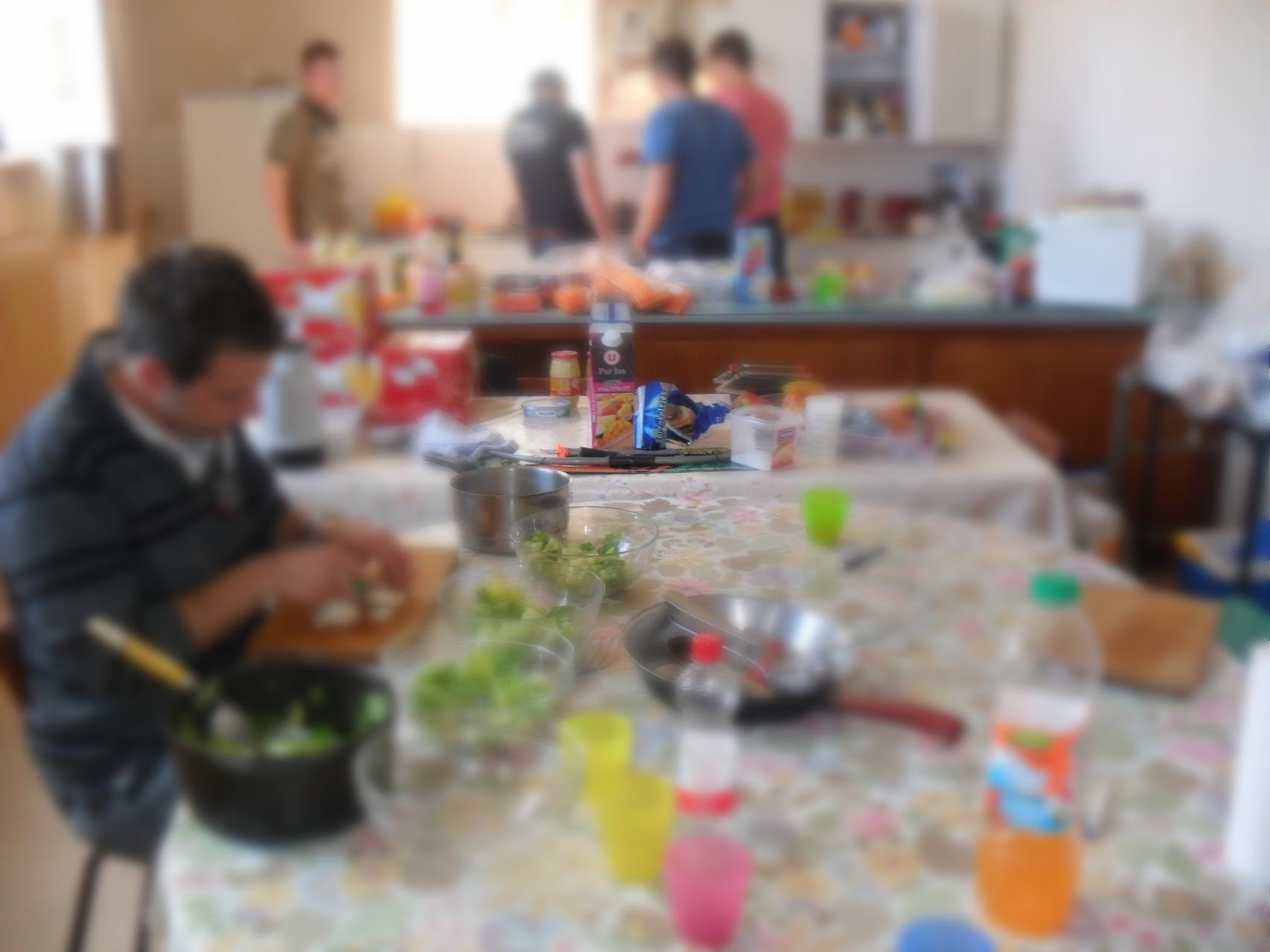 Accueil de groupe : Grande cuisine fonctionnelle