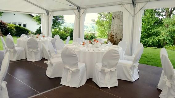 Tischdecke rund weiß