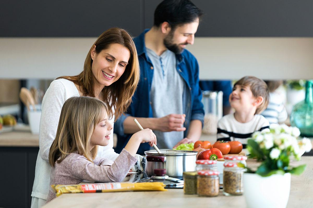 Geselligkeit fördert die Qualität des Essens