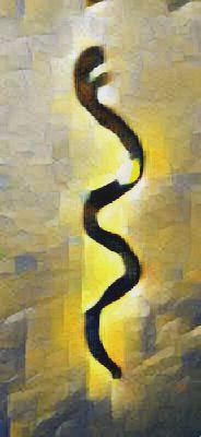 Le serpent défini clairement l'appartenance à un moment où un endroit des passions instinctives.