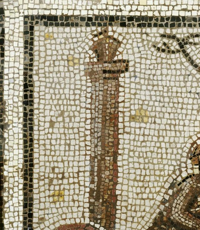 Détail du cantalon, il s'agit d'un panier en offrande aux étoiles, plus tard les envahisseurs le remplacèrent par des idôles.