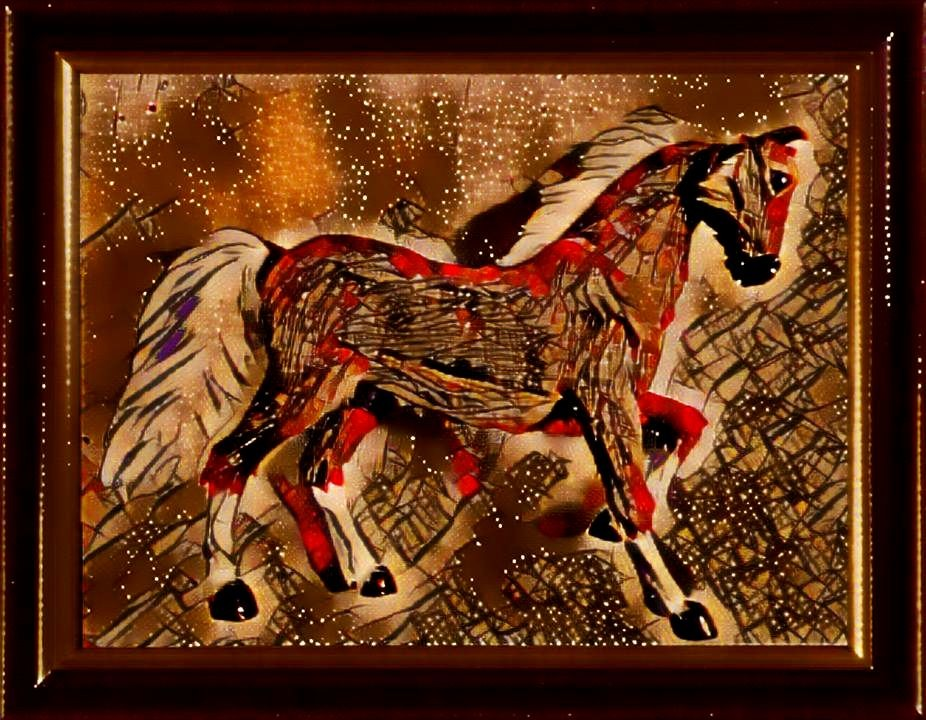 Le cheval gaulois galope sur les étoiles.
