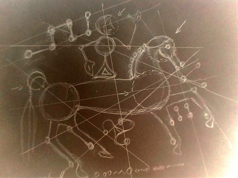 Appréhender le dessin gaulois comme un graphisme très organisé et calculé.