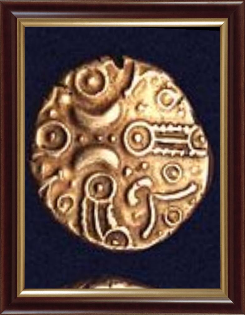 Un peu la même chose, la croix constituée des 4 quarts lunaires, dont trois principaux au milieu.