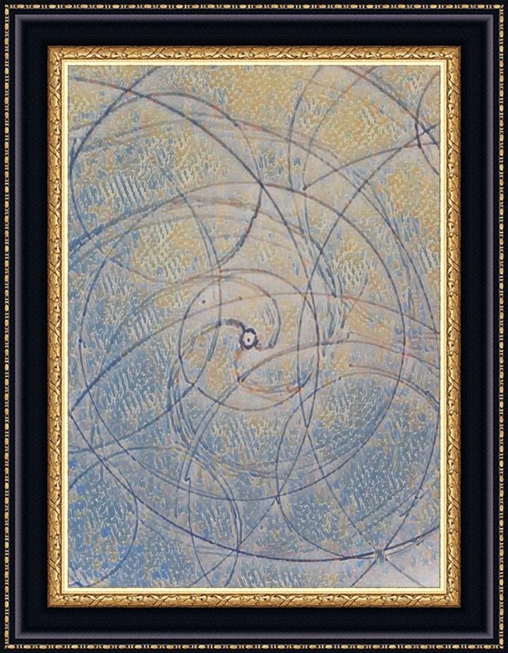Art gaulois, druidisme. Nos ancêtres se servaient d'esquisses composées de ronds enchevêtrés pour tracer les lignes premières, lors de l'esquisse. Les prémices de ce genre de travail se trouvent à Gavrinis.