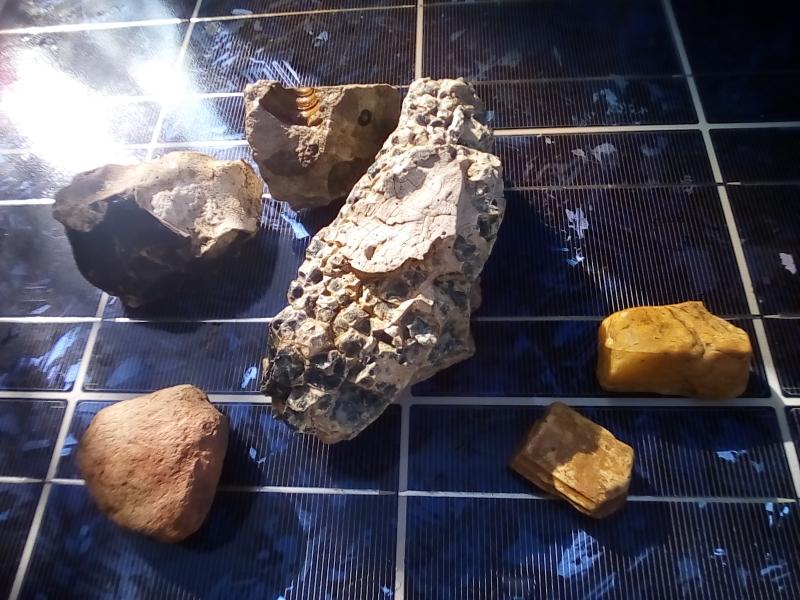 Toutes les formes et toutes les couleurs se retrouvent dans la roche.