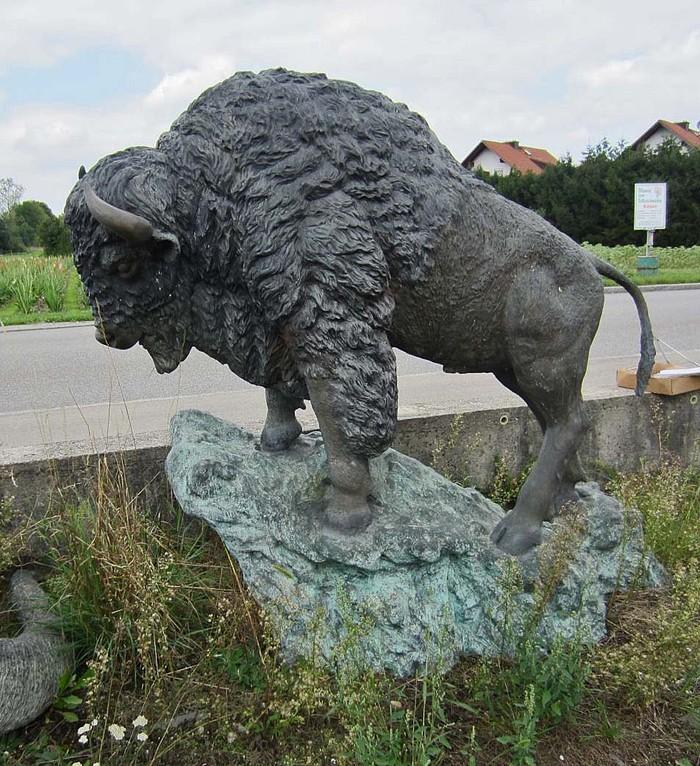 Buffalo Figure for the garden Bronze