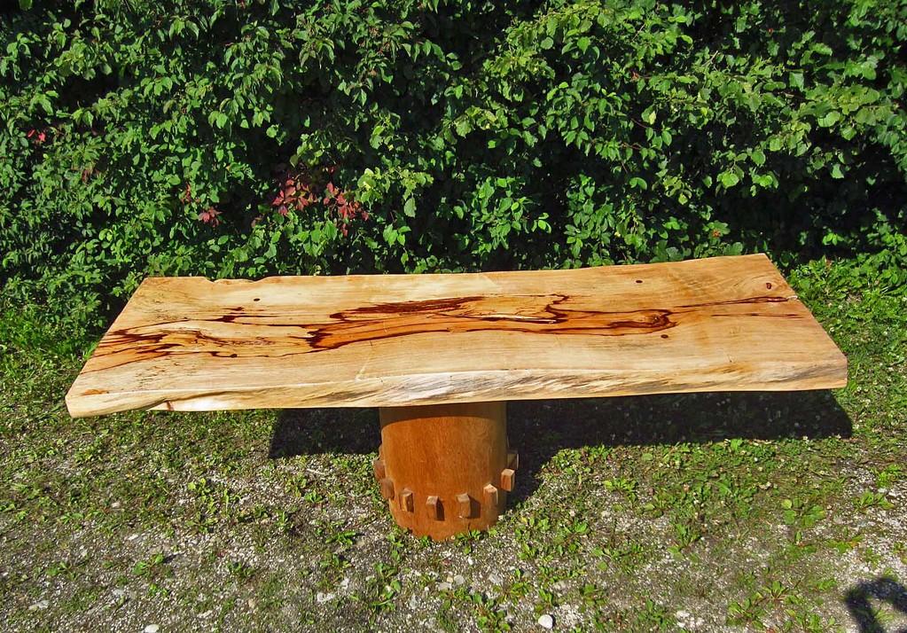 Tischstamm Baumstamm Baumscheibe Holz Naturholz - Yin & Yang Asiatika - Klaus Dellefant