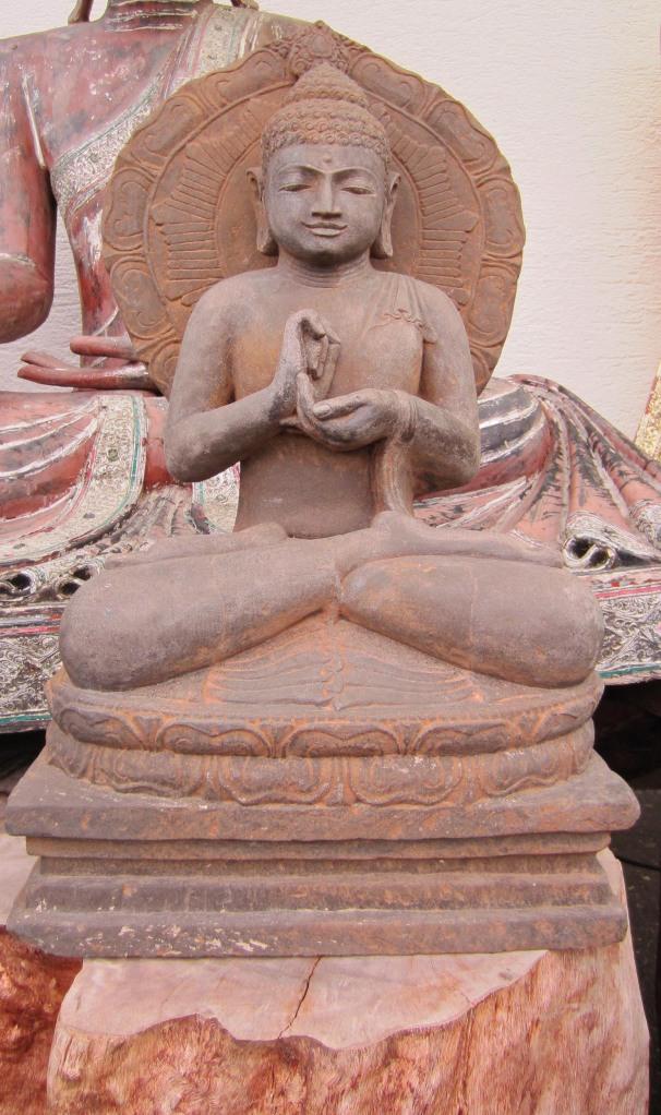 Buddha flammenkreole h 85 cm yin yang asiatika - Garten buddha frostsicher ...