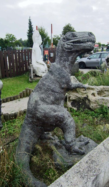 Tyrannosaurus Rex Dinosaurier Figur Bronze Garten Dekoration Statue Skulptur - Klaus Dellefant - Yin & Yang Asiatika