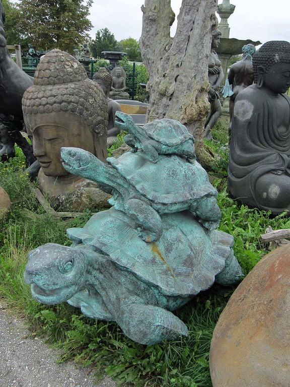 schildkröten familie garten figur dekoration wasser