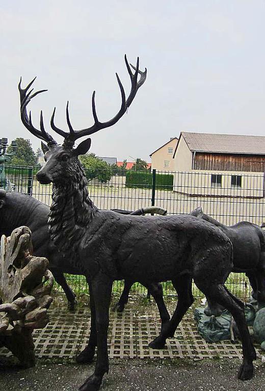 hirsch dekoration skulptur
