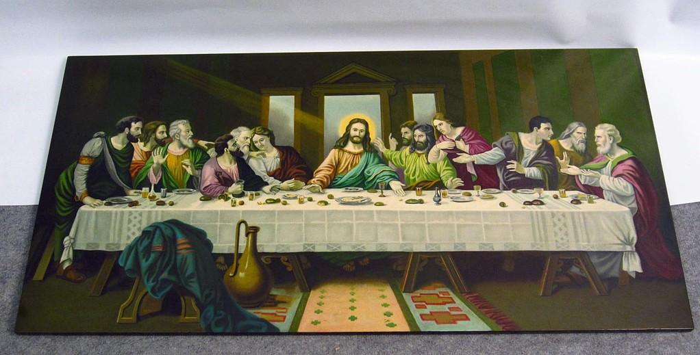Das letzte Abendmahl - Leonardo Da Vinci - Kopie - Bild - Gemälde - Wandgemälde - kaufen