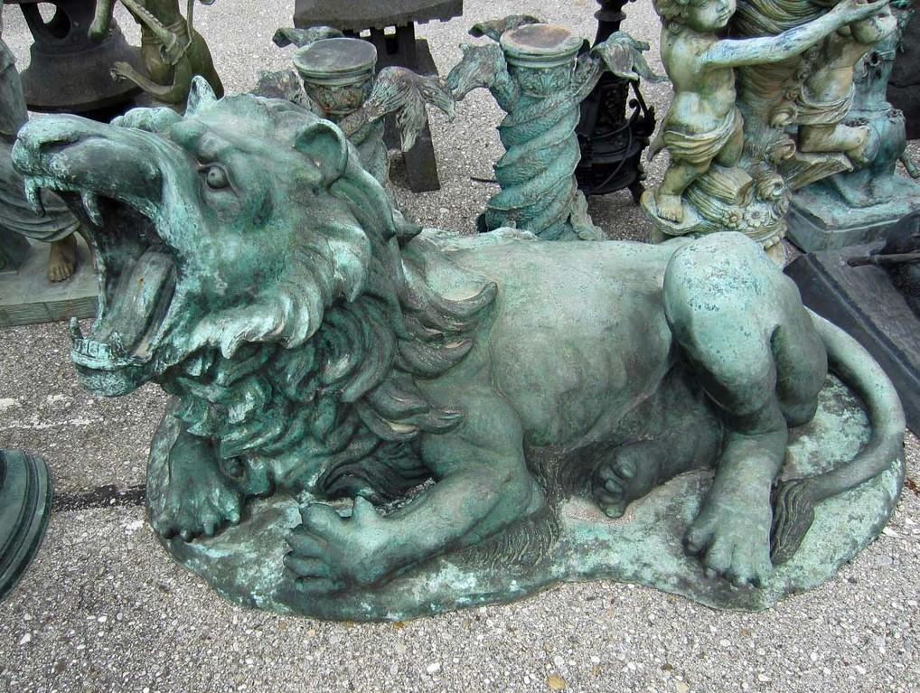 löwenfigur garten lion figure
