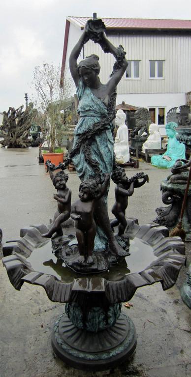 Brunnen für den Garten aus Bronze