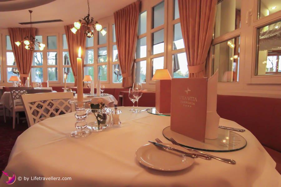 Restaurant in der VilaVita Pannonia