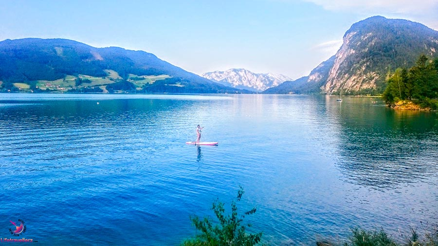 Stand Up Paddling am Mondsee