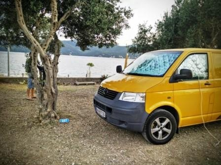 VW T5 Bus in Kroatien